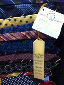 Necktie Quilt earned Honorable Mention at the San Mateo County Fair 2012